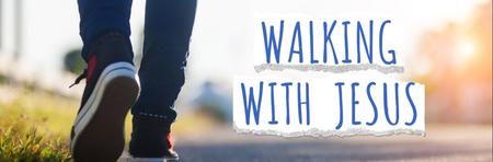 Walking With Jesus Banner